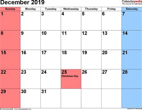 december 2019 calendar template monthly printable calendar