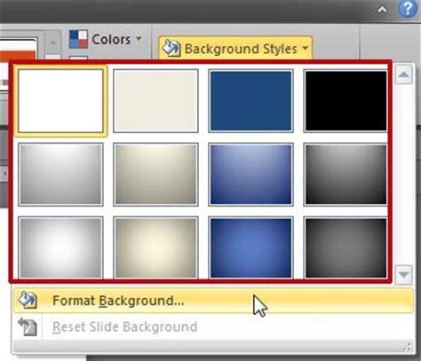 powerpoint layout löschen geht nicht slide background styles in powerpoint 2010 for windows