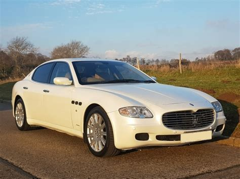 white maserati sedan maserati quattroporte white wedding car worthing west sussex