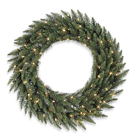 buy vickerman 48 inch camdon fir dura lit pre lit wreath