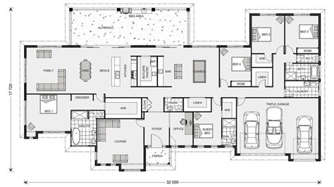 triple bedroom house plans floor plan friday 5 bedroom acreage style home with triple garage