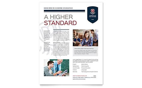 high school brochure template high school brochure template design