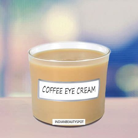 DIY natural coffee eye cream and serum for dark circles and fine lines   THEINDIANSPOT