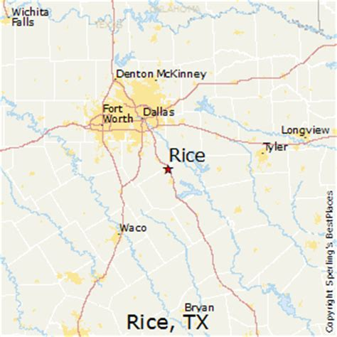 rice texas map best places to live in rice texas