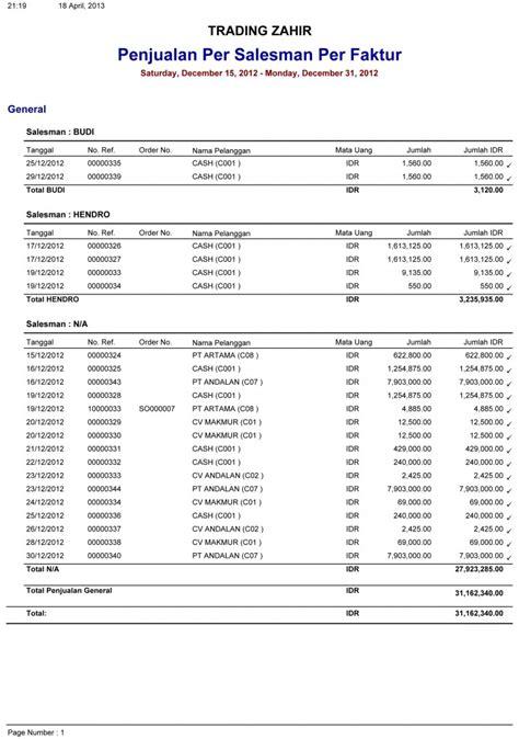 contoh laporan zahir contoh faktur barang bisnis contoh two