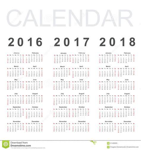 Mayan Calendar 2019 Calendar For 2016 2017 And 2018 Year Stock Vector Image