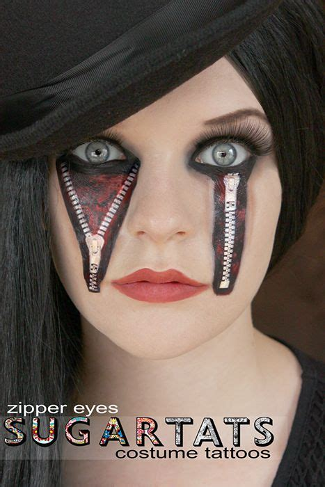 halloween face tattoos 49 best zipper images on leather jackets