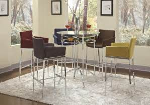 Pce modern bar height dining set add a bar unit or bar table to