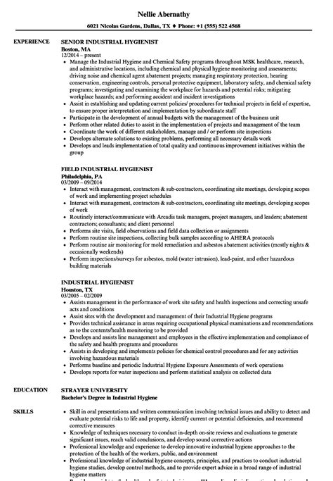 Industrial Hygiene Technician Cover Letter by Industrial Hygiene Technician Sle Resume Wrap Template Web Application Tester Sle
