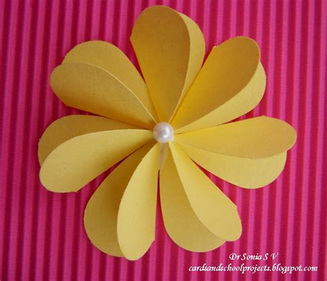 Folding Flowers Out Of Paper - cards crafts projects flat folding punch