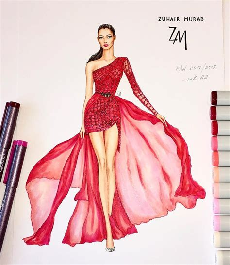 fashion illustration dress best 25 drawing fashion ideas on
