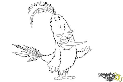 angry birds chuck coloring page how to draw chuck from the angry birds movie drawingnow