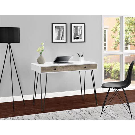 dorel owen retro white sonoma oak student desk