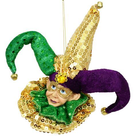 mardi gras jester head ornament 71446 mardigrasoutlet com