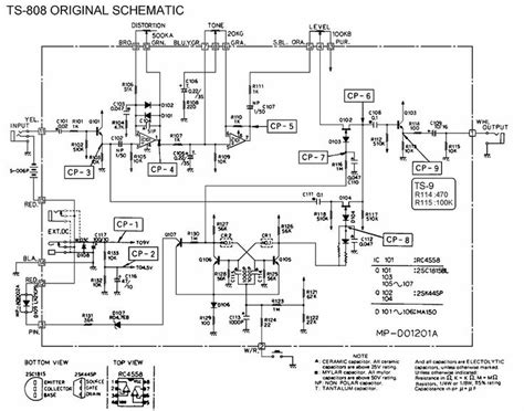 ibanez ts808 schematic pedal tech