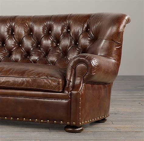 Leather Sofa Nailhead by Churchill Leather Sofa With Nailheads