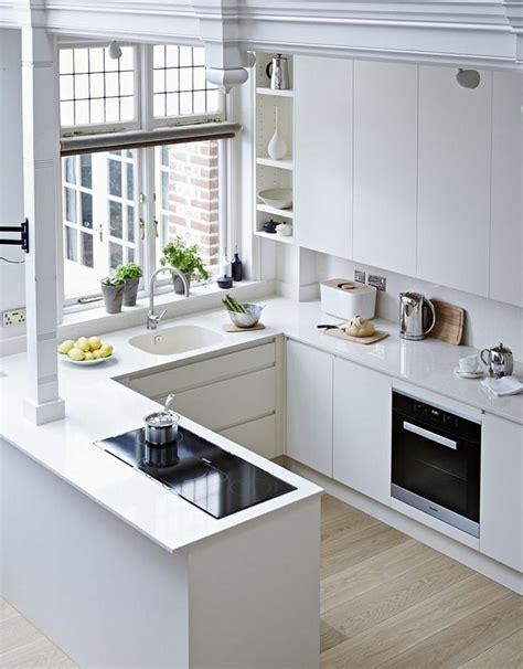 cocinas en u modernas 1001 ideas sobre decoraci 243 n de cocinas blancas