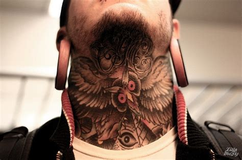 tattoo owl on neck owl tattoo neck tattoo s black white only pinterest