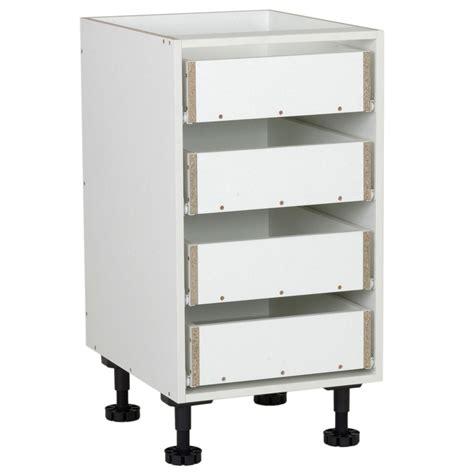 kitset kitchen cabinets kaboodle kitset 450mm timber 4 drawer carcase bunnings