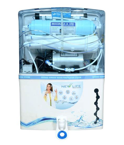 life of uv l in water purifier new life 15 l new life a ro uv tds water purifiers