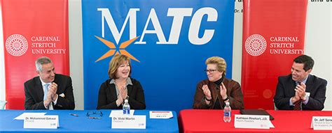 Cardinal Stritch Mba And Health Care Management by Matc Cardinal Stritch Establish Agreement That