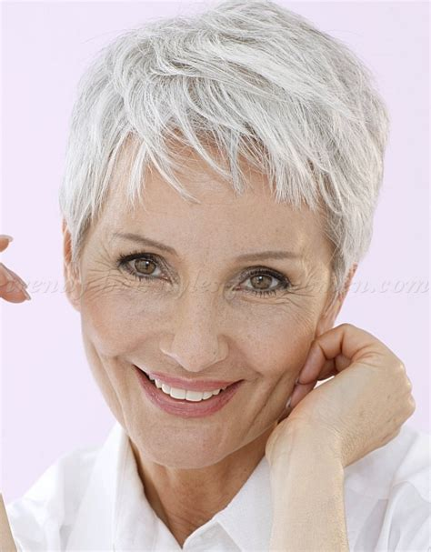 Hairstyles For 60 With Gray Hair by Pixie Haircuts Gray Hair 60 Hairstyle 2013