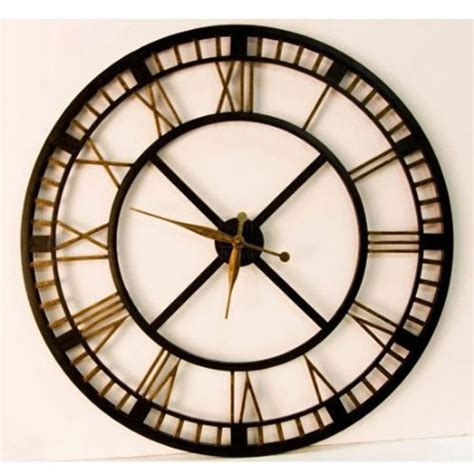 giant wall clock large iron wall clock plushemisphere