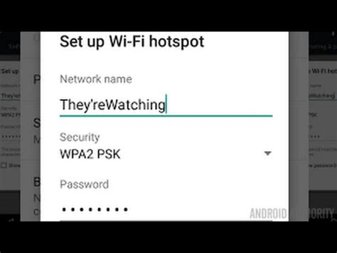 reset android hotspot password change any android hotspot name and password youtube