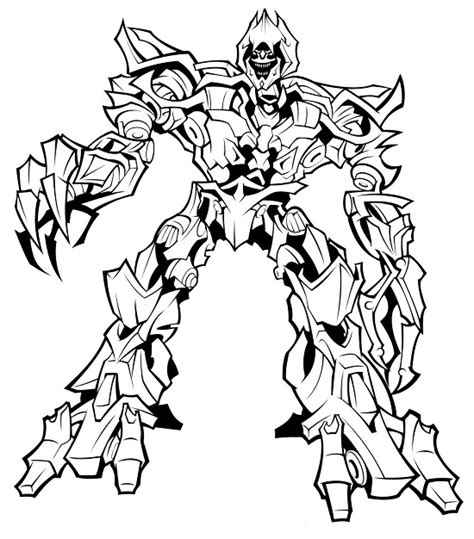 transformers megatron coloring page megatron transformers coloring pages coloring pages