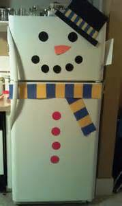 decorate refrigerator as a snowman woo jr kids activities
