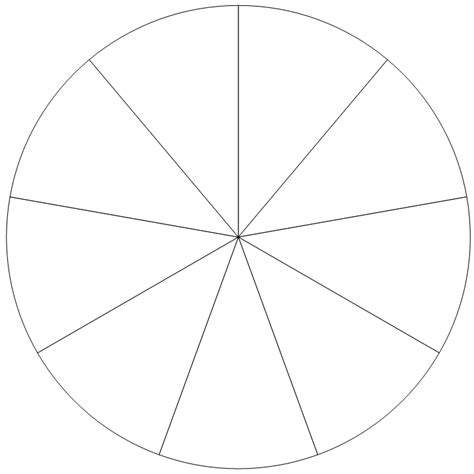 section of a circle diy pie chart templates for teachers student handouts