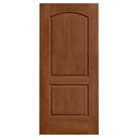 Mdf Interior Door Jeld Wen 36 In X 80 In Continental Hazelnut Stain Solid Molded Composite Mdf Interior