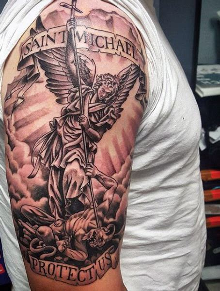 michael angel tattoo 75 st michael designs for archangel and