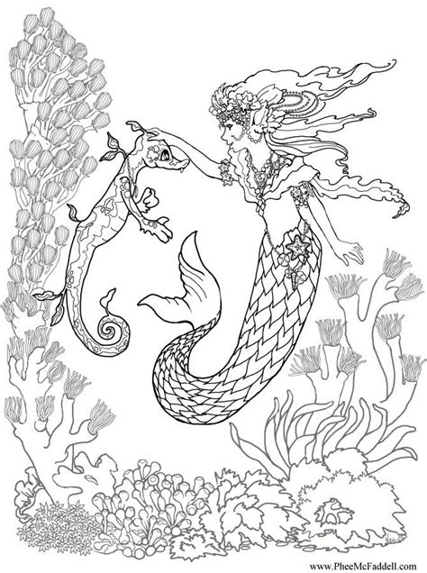 realistic coloring pages for adults kleurplaat zeemeermin realistic mermaid coloring pages