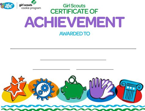 girl scout certificate templates download free premium