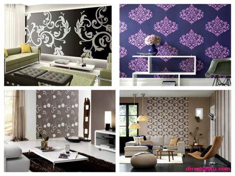 wallpaper yg bagus untuk ruang tamu motif wallpaper dinding ruang tamu yang cantik dirumahku com