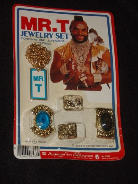 1983 vintage the a team mr t jewelry gold starter kit set