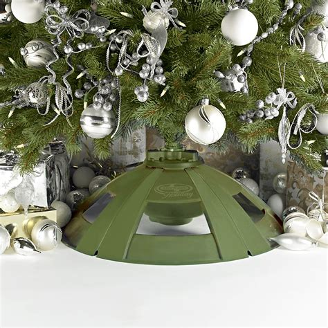 2rotating christmmas tree stand snow joe rotating tree stand for artificial trees h092 seasonal tree
