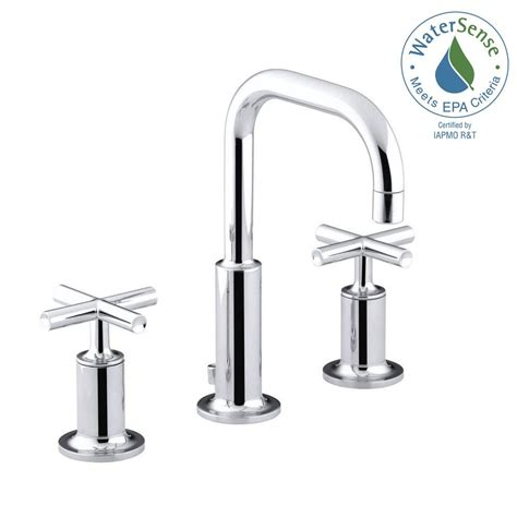 kohler gooseneck kitchen faucet kohler purist 8 in widespread 2 handle bathroom faucet in
