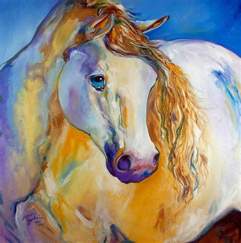imagenes semifigurativas caballos de marcia baldwin pinturas figurativas modernas