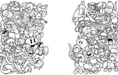 Super Smash Brothers Coloring Pages Coloring Home Smash Bros Brawl Coloring Pages