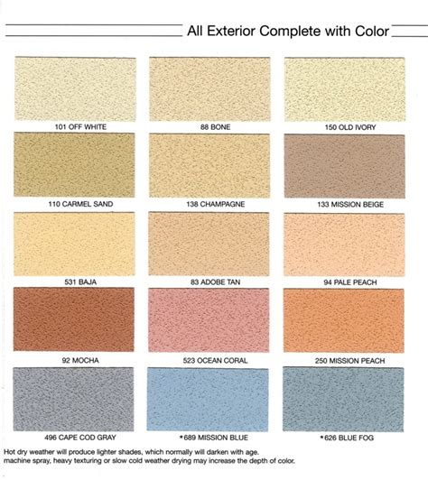 stucco color chart stucco color chart stucco color charts blue collar