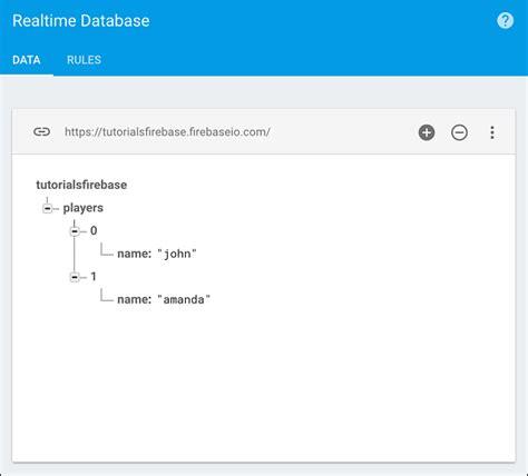 tutorialspoint firebase firebase data