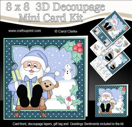 3d decoupage kits 8x8 sledging santa mini kit 3d decoupage cup582517