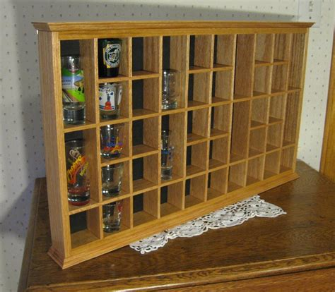 shot glass holder cabinet glass display case plans free download pdf woodworking