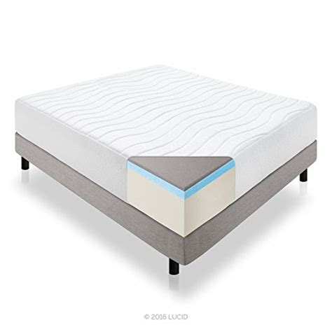 memory foam bed reviews lucid 14 inch plush memory foam mattress review