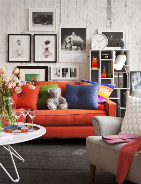 Living Room With Orange Sofa 25 Best Ideas About Orange Sofa On Orange Sofa Design Orange Sofa Inspiration And