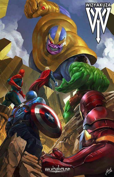 avengers  thanos superheroes marvel marvel comics