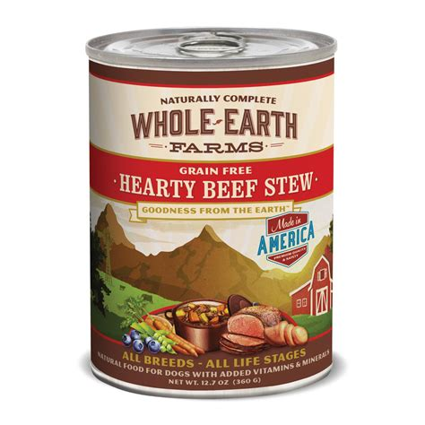 whole earth food whole earth farms grain free hearty beef stew canned food petco