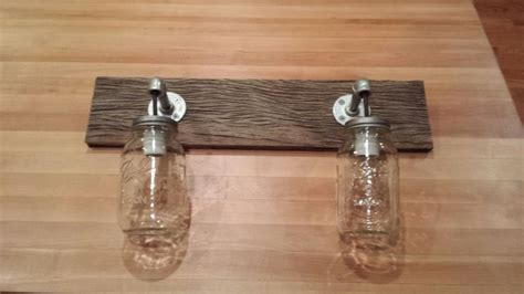 Barnwood Light Fixtures by Barnwood Jar Two Light Fixture Rustic Lighting Rustic Lighting Blue